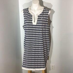 Nautica sleeveless patterned shift dress